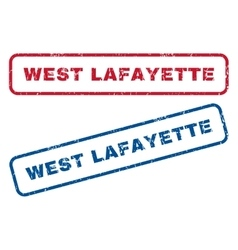 West lafayette rubber stamps vector