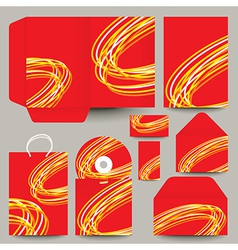 Abstract pattern cd and packaging vector