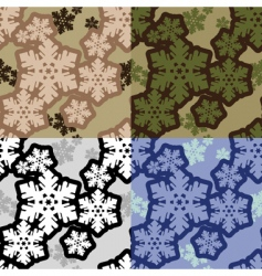 snowflakes camouflage vector image