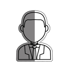 Business executive profile vector