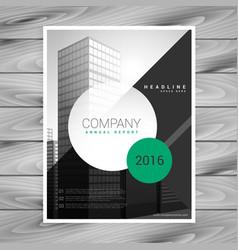 Modern company flyer brochure with geometric vector
