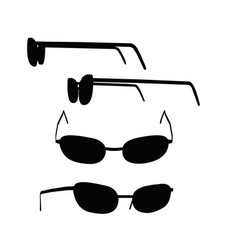 Glasses on white background vector