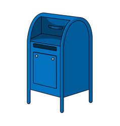 mailboxmail and postman single icon in cartoon vector image