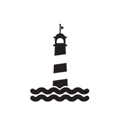 Black icon on white background lighthouse vector