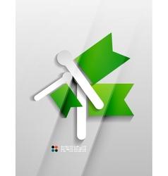 flags paper modern design vector image