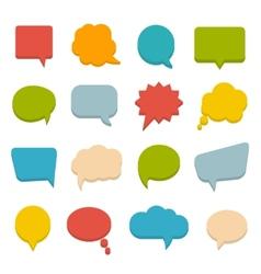 colored communication bubbles vector image