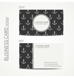 Vintage creative simple business card template vector