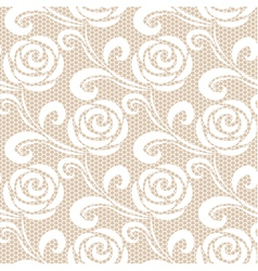Seamless white retro roses lace pattern vector