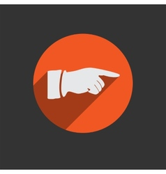 Hand finger icon button for web vector
