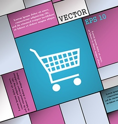 Shopping cart icon sign modern flat style for your vector