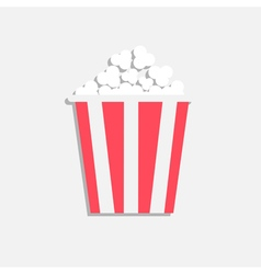 Popcorn cinema icon in flat design style isolated vector