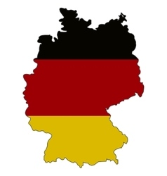Germany state flag and map vector