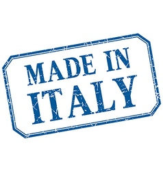 Italy - made in blue vintage isolated label vector