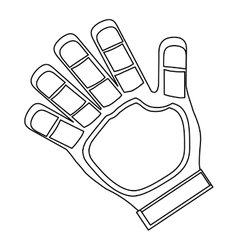 Goalkeeper glove icon vector