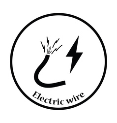 Icon of wire vector