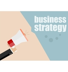 Business strategy megaphone flat design vector