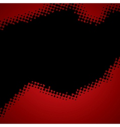 Abstract red-black halftone background vector
