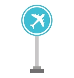 Airport sign traffic icon vector