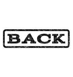 back watermark stamp vector image