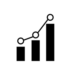 Bar graph chart icon image vector