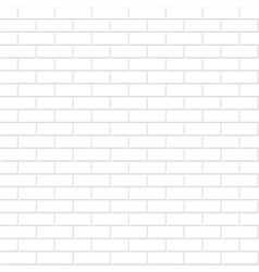 Brick wall texture white seamless background vector