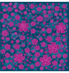 Bright floral pattern with lined and colored vector image vector image