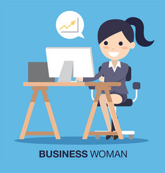 Business woman success vector