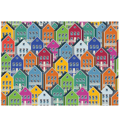 colorful houses pattern vector image vector image