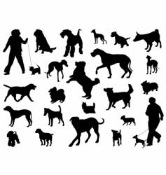 Dog collection vector