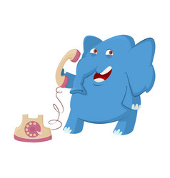 elephant and telephone vector image vector image
