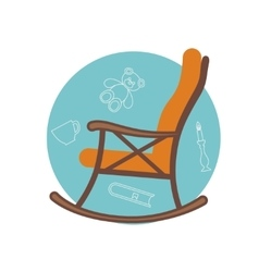Flat of rocking chair vector image
