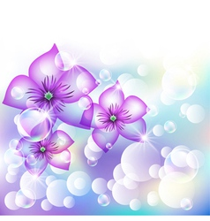 Floral shining vector