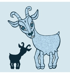 Goat 2015 Symbol of the new year vector image