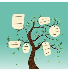 Hang tag family tree vector