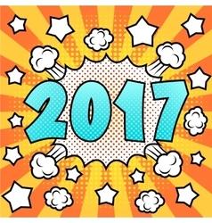 Happy new 2017 year vector image vector image
