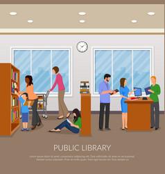 Ipublic library llustration vector
