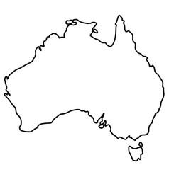 isolated australian map vector image