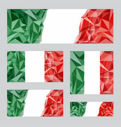 italian flags set vector image