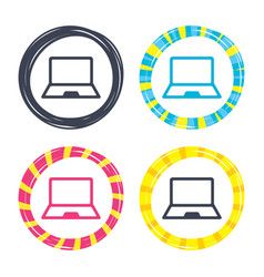 Laptop sign icon notebook pc symbol vector