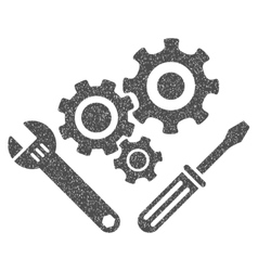 Mechanics tools grainy texture icon vector