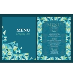 menu template design with geometric vector image vector image