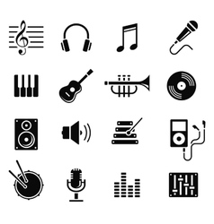 Music and multimedia icons vector