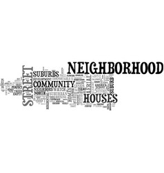 Neighborhood word cloud concept vector