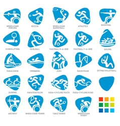 Paralympics Icon Pictograms Set 5 vector image vector image
