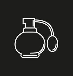 perfume simple icon on black background vector image vector image