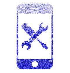 Smartphone tools textured icon vector