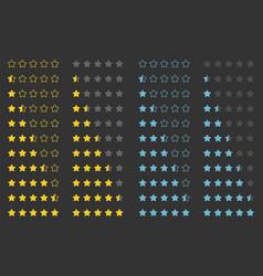 stars rating design element vector image