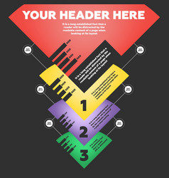 Step by step infographics vector