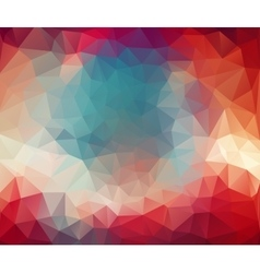 triangle geometric background Color Abstract vector image vector image
