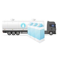 truck semi trailer concept 06 vector image vector image